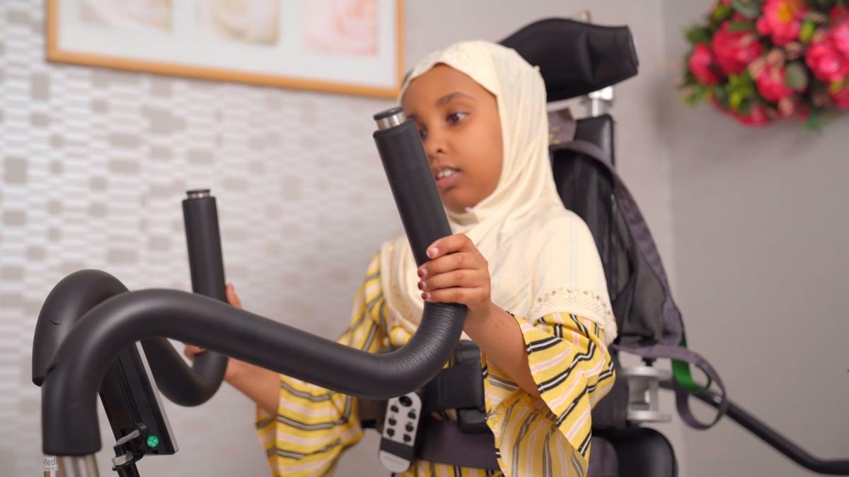 Aisha in ihrem Innowalk