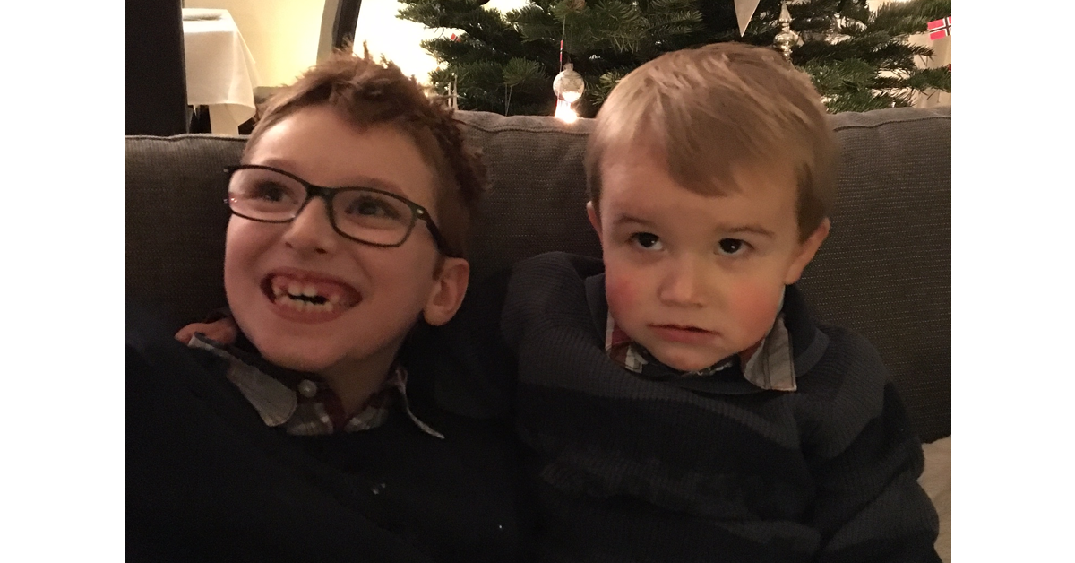 Brothers at christmas. Having a child with disabilities: Living, challenges and finding time for yourself